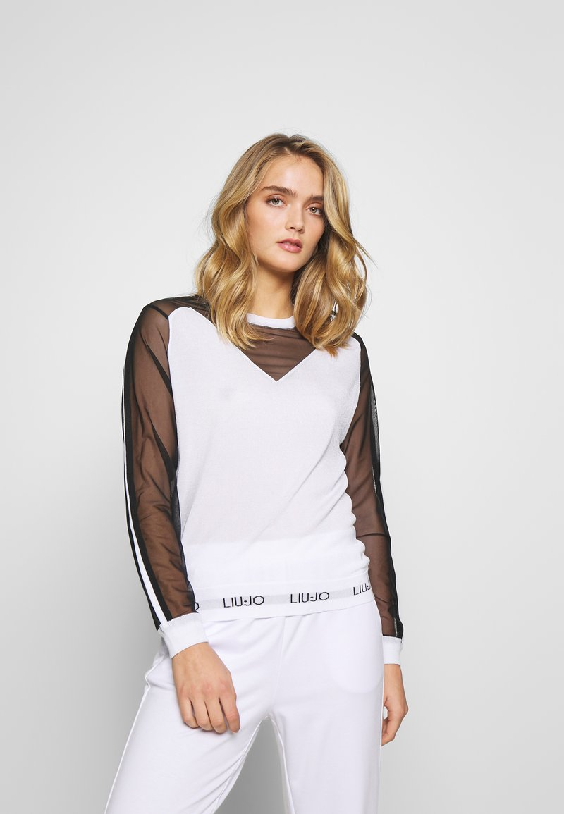 Liu Jo Jeans - MAGLIA CHIUSA - Sweter - white/black