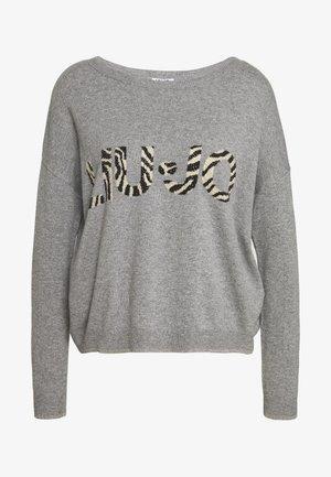 MAGLIA CHIUSA - Jersey de punto - mottled grey