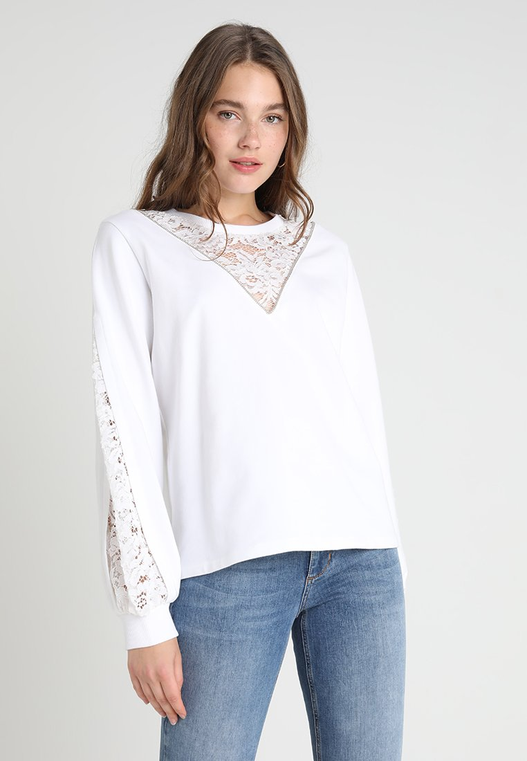Liu Jo Jeans - CHIUSA - Sweatshirts - bianco ottico