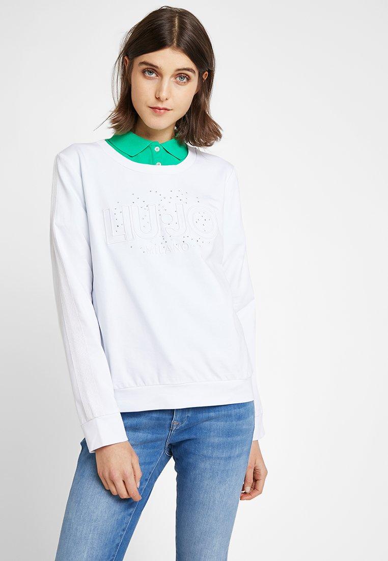 Liu Jo Jeans - FELPA CHIUSA - Sweatshirt - stone/white