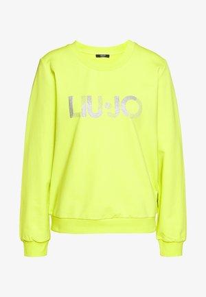 FELPA CHIUSA - Sweater - neon green