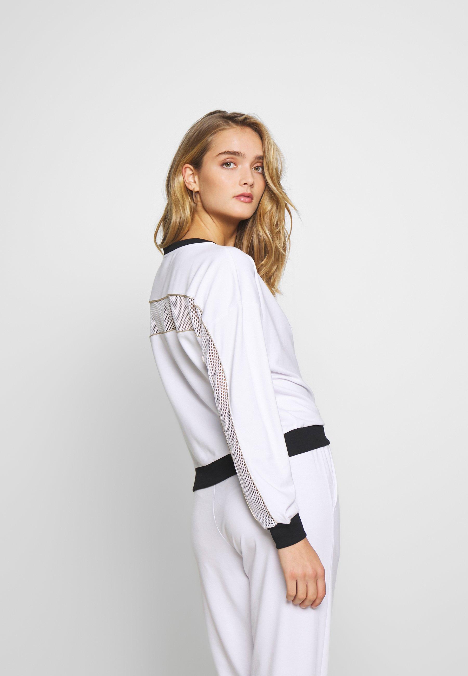 Liu Jo Jeans Felpa Chiusa - Sweatshirt Bianco Ottico