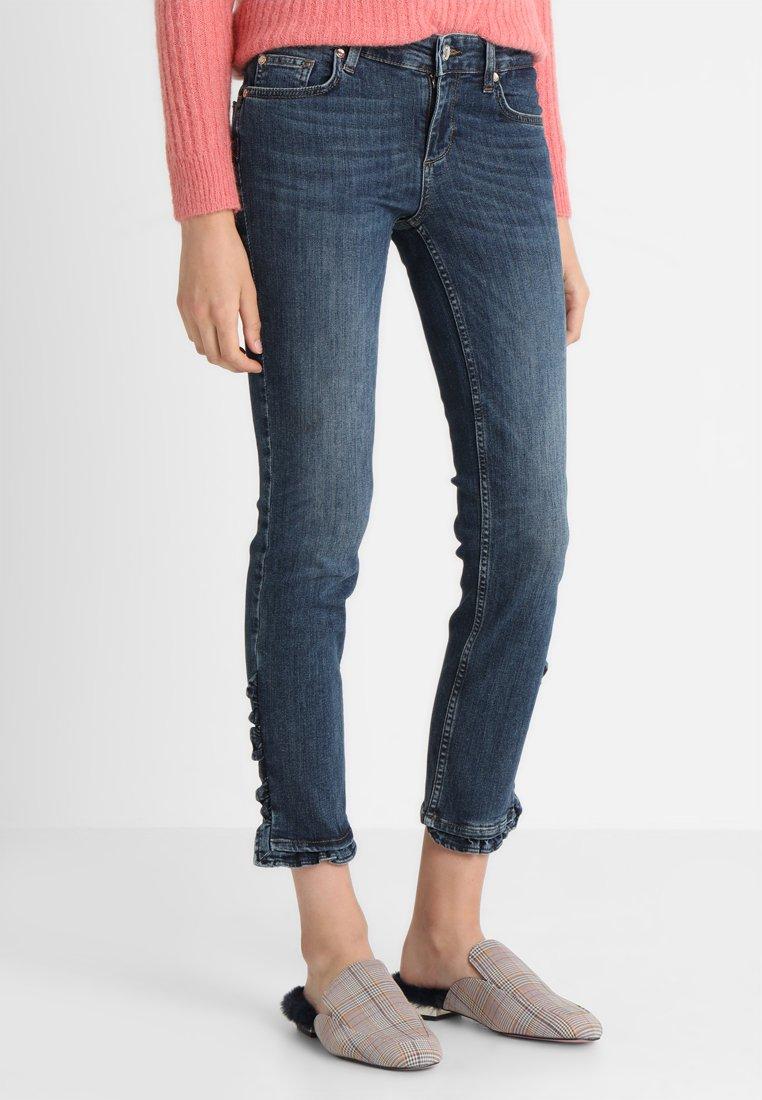 Liu Jo Jeans - RUFFLE - Slim fit jeans - dark-blue denim