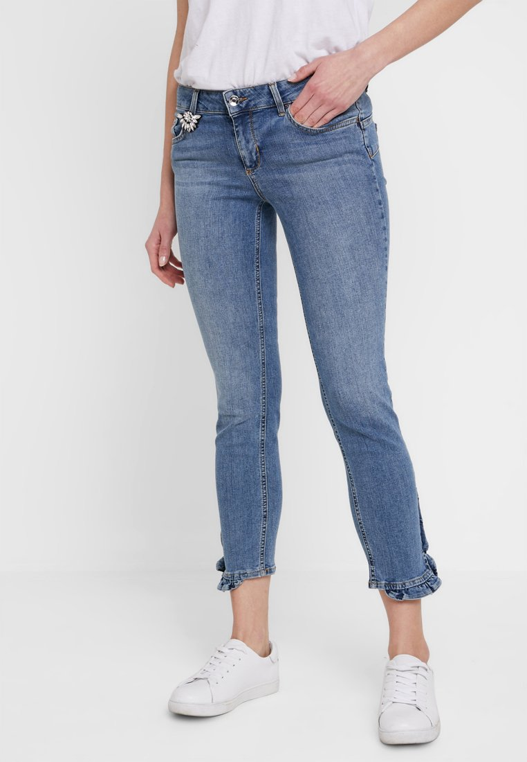 Liu Jo Jeans - RUFFLE - Jeans Skinny Fit - denim blue carnation