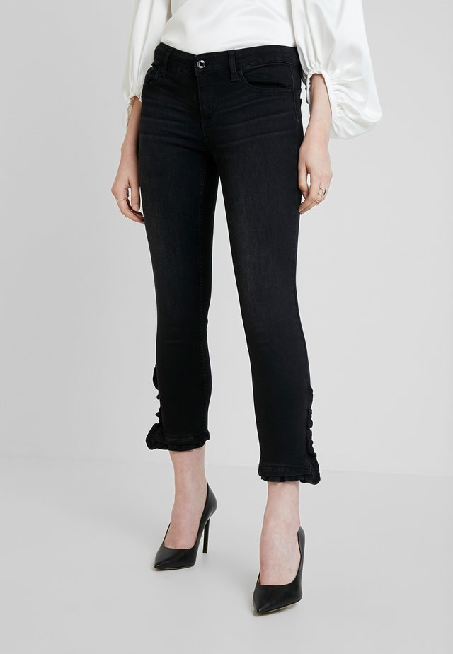 RUFFLE REG - Jeans Skinny Fit - denim black