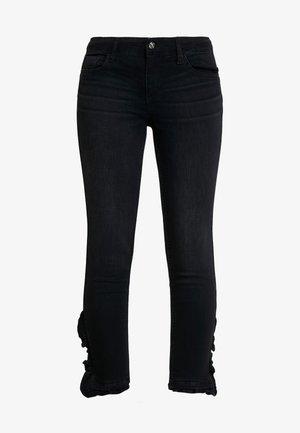 RUFFLE REG - Jeans Skinny Fit - denim black