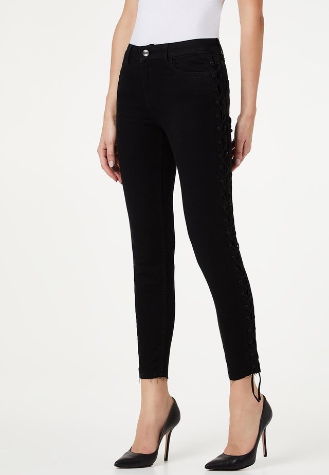 WITH LACES - Jeans Skinny Fit - black