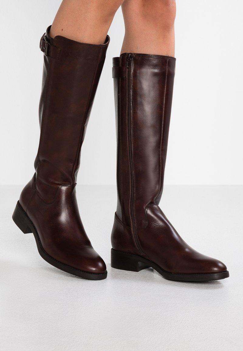 Lamica - PASQUALINA - Høje støvler/ Støvler - macchiato/testa di moro