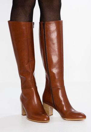ENTE - Vysoká obuv - macchiato wisky