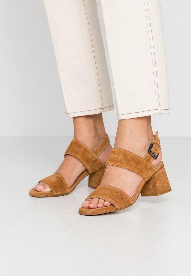 ANDIA - Sandals - cognac