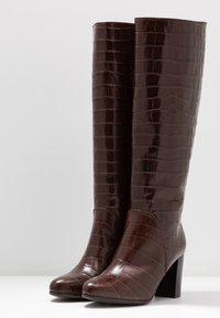 Lamica - GABIA - Høje støvler/ Støvler - testa di moro - 4