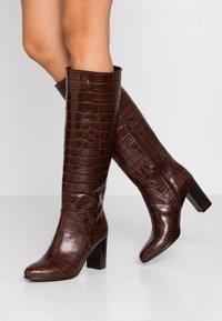 Lamica - GABIA - Høje støvler/ Støvler - testa di moro - 0