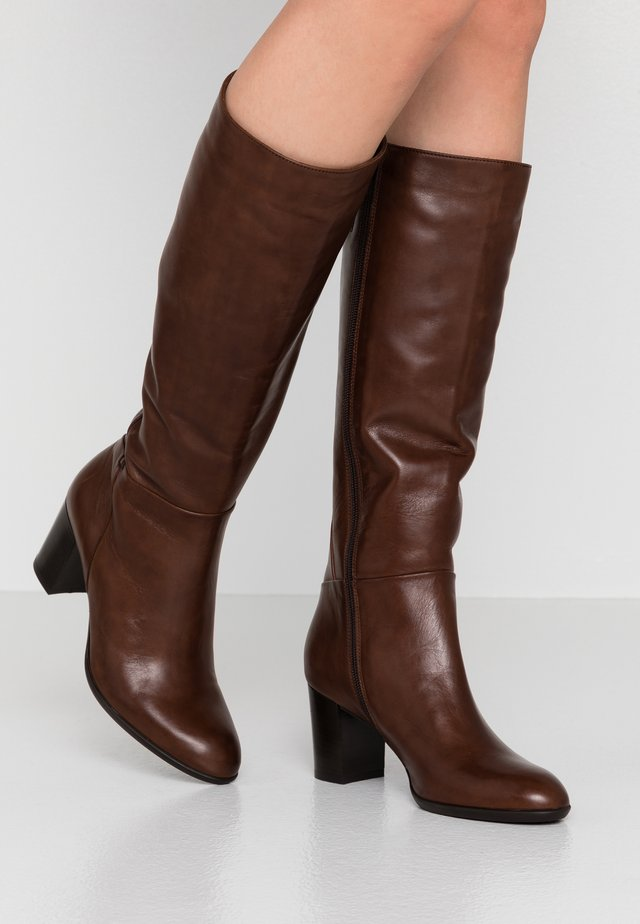 ELMO - Stivali alti - feet castagno