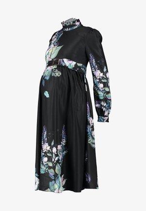 MARLOWE FLORAL LONG SLEEVE MIDI DRESS - Robe d'été - multi