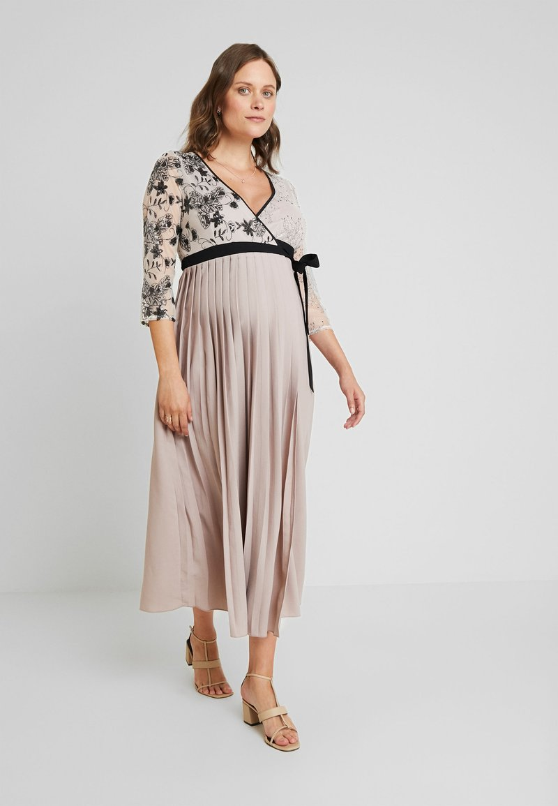Little Mistress Maternity - TABITHA VINTAGE SEQUIN MIDI WRAP DRESS - Gallakjole - mink