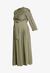 Little Mistress Maternity - LAURIE CROCHET DRESS - Maxi dress - khaki - 5