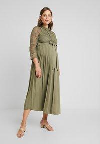 Little Mistress Maternity - LAURIE CROCHET DRESS - Maxi dress - khaki - 0