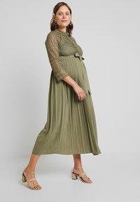 Little Mistress Maternity - LAURIE CROCHET DRESS - Maxi dress - khaki - 2