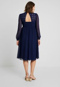Little Mistress Maternity - SACHA LONG SLEEVE MIDI DRESS - Sukienka koktajlowa - navy - 3