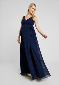 Little Mistress Maternity - EXCLUSIVE ROSE V NECK DRESS - Suknia balowa - navy - 2