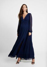 Little Mistress Maternity - TRIM MAXI DRESS - Robe longue - navy - 0