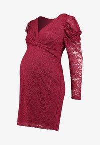 Little Mistress Maternity - SHINECLOTH AND TRIM MIDI DRESS - Robe de soirée - red - 5