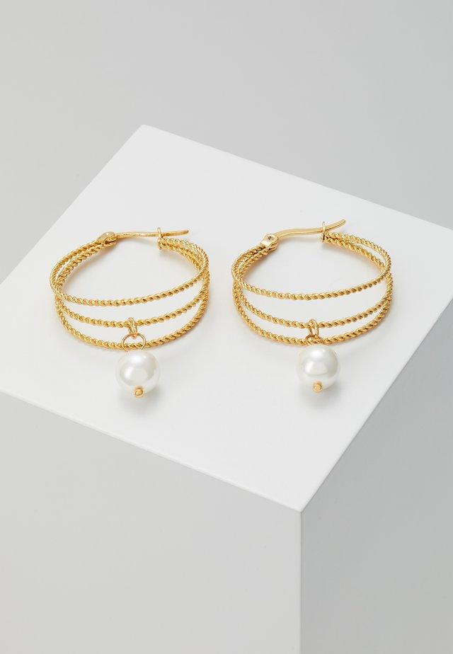 Kolczyki - gold-coloured