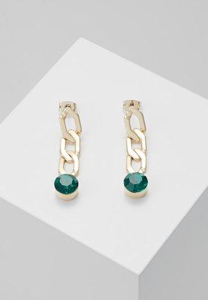 Boucles d'oreilles - gold-coloured/green