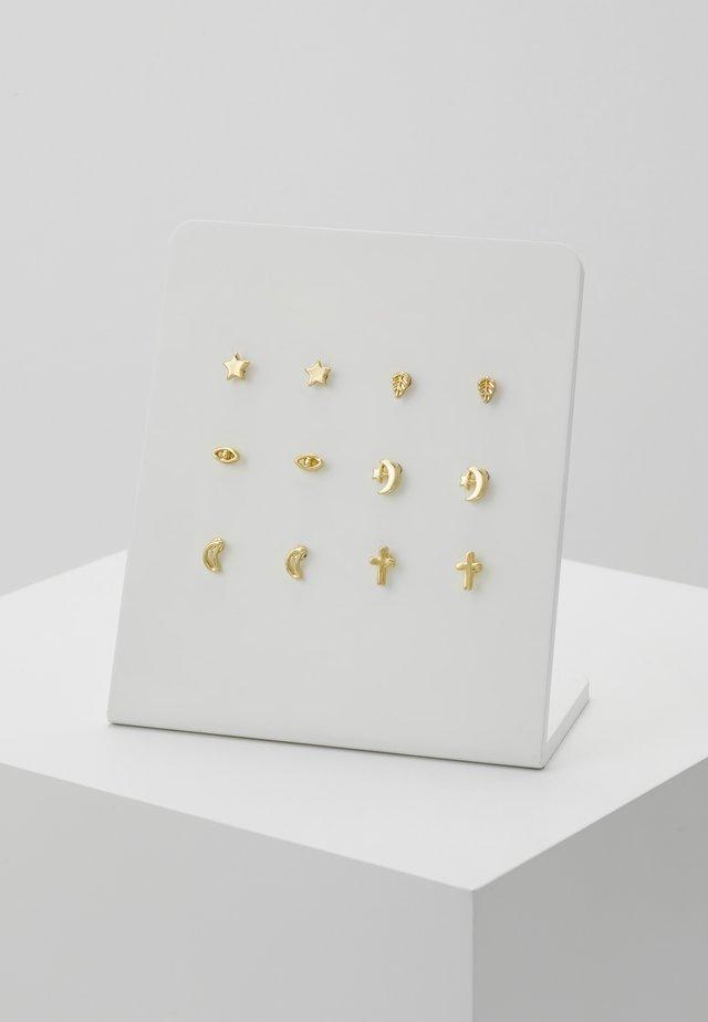 6 PACK - Earrings - gold-coloured