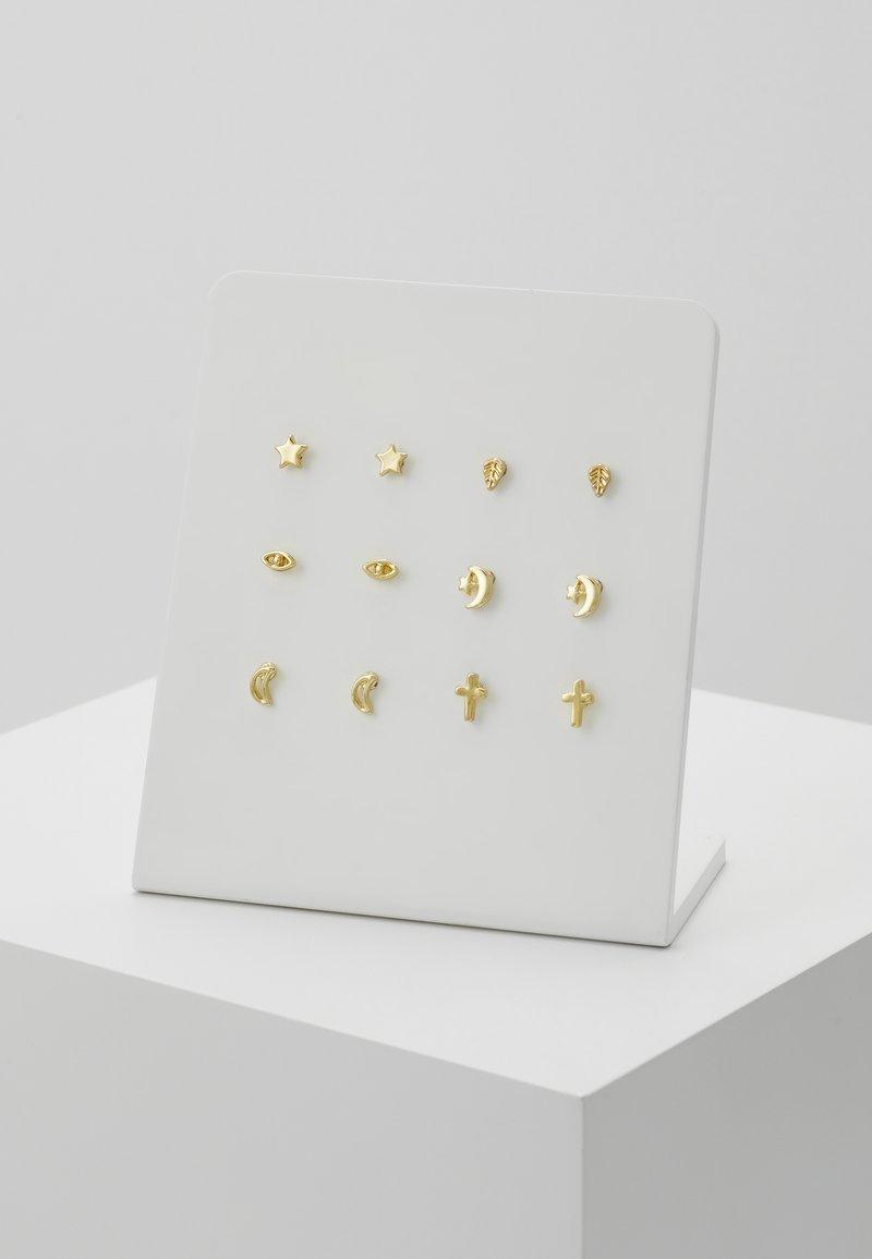 Leslii - 6 PACK - Earrings - gold-coloured