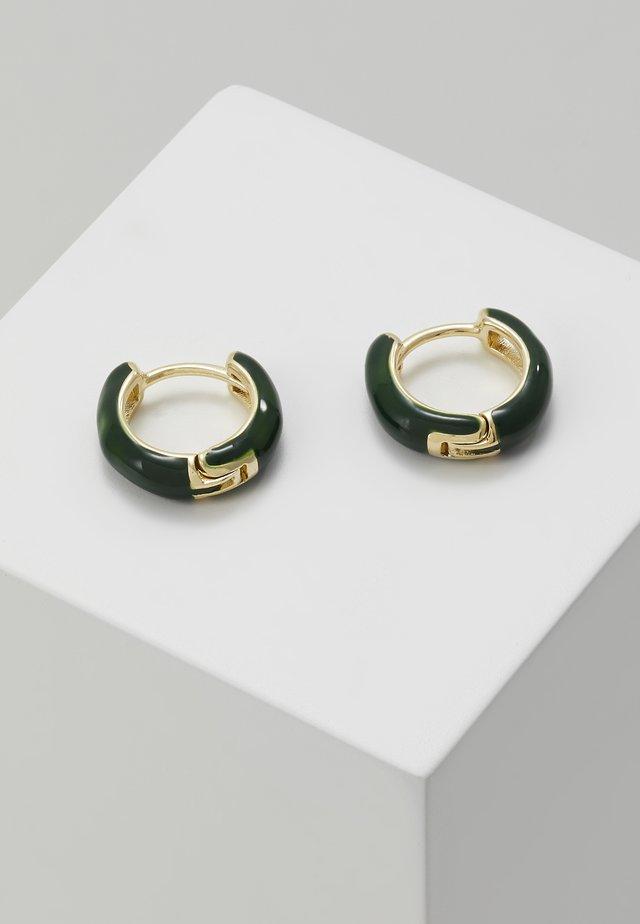 Náušnice - gold-coloured/green