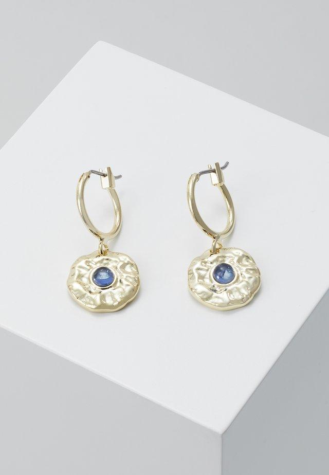 Øreringe - gold-coloured/blue