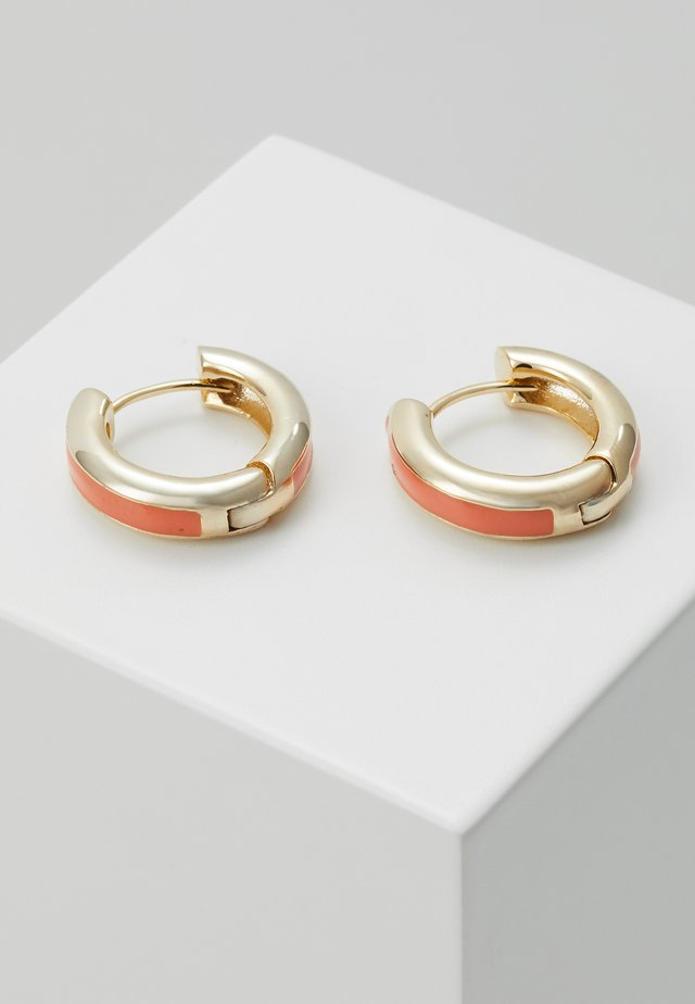Earrings - gold-coloured/orange