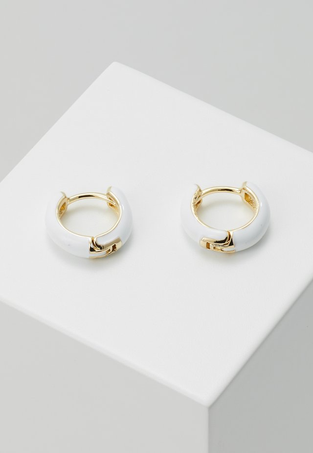 Boucles d'oreilles - gold-coloured/white