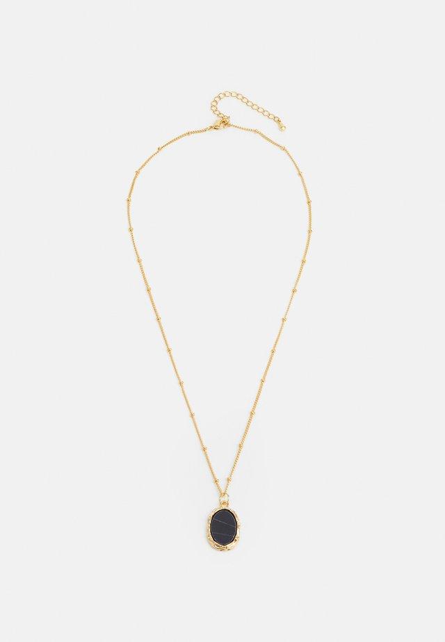 Necklace - gold-coloured/black