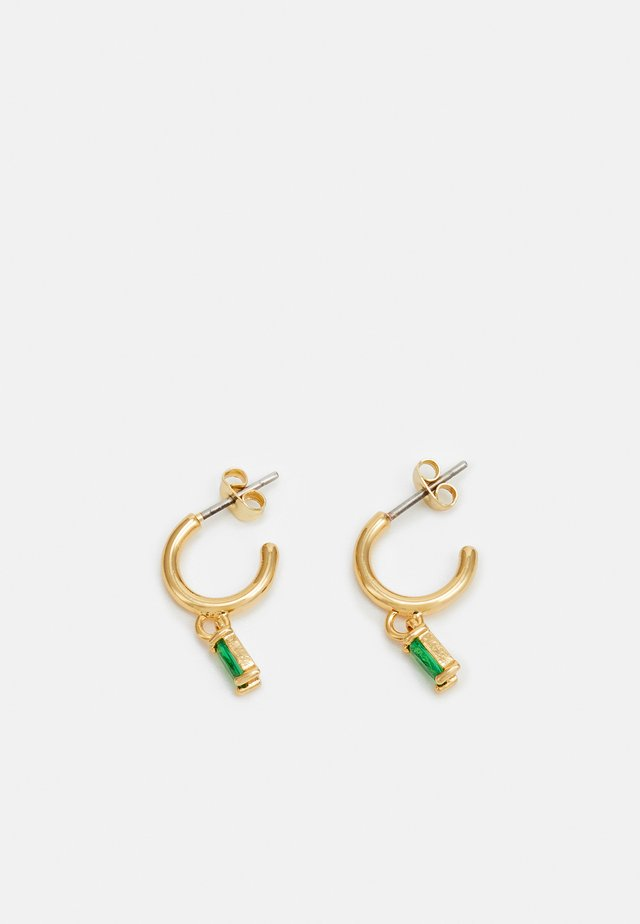 Örhänge - gold-coloured/green