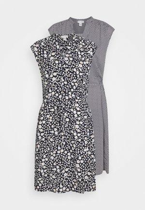 DRESS TRACY 2PACK - Skjortklänning - dark navy