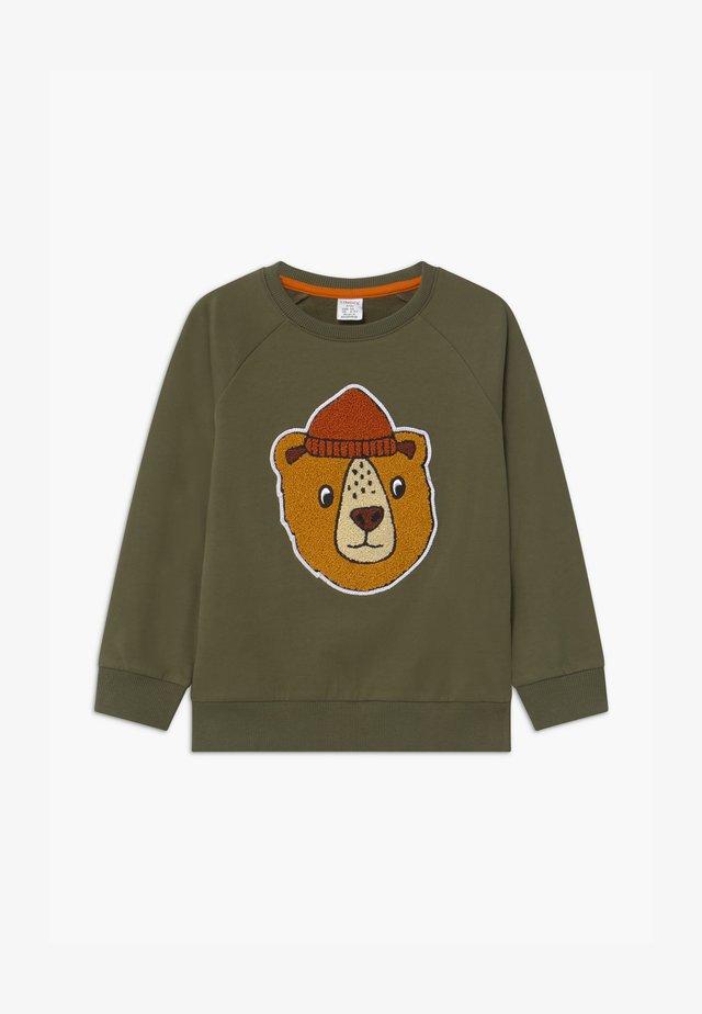 PRINT BEAR - Sweatshirts - khaki green