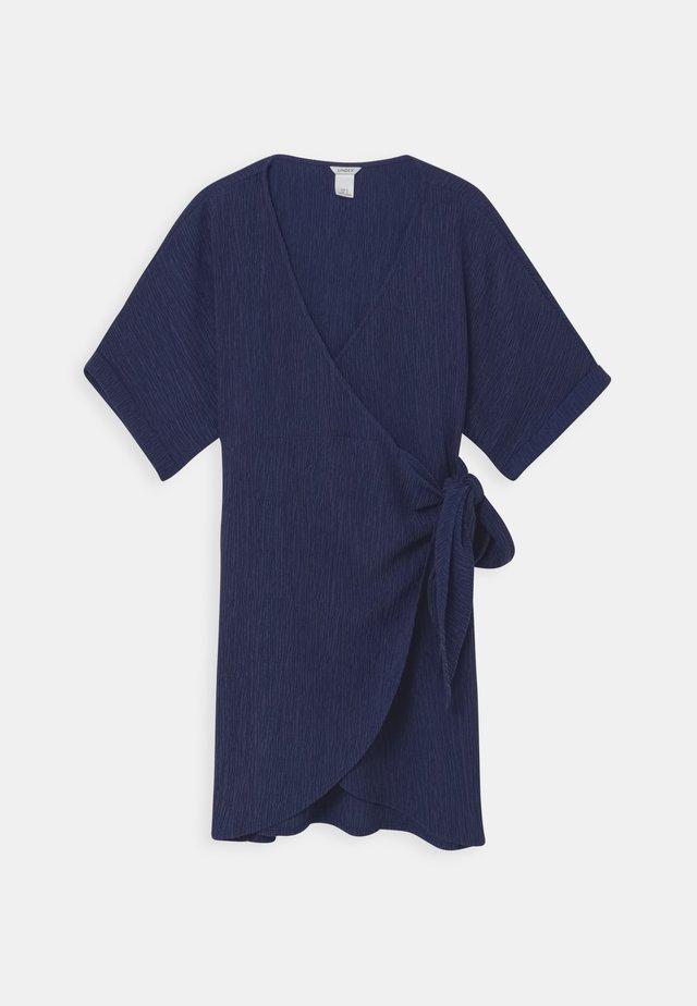 DRESS MOM LISEN - Korte jurk - dark dusty blue