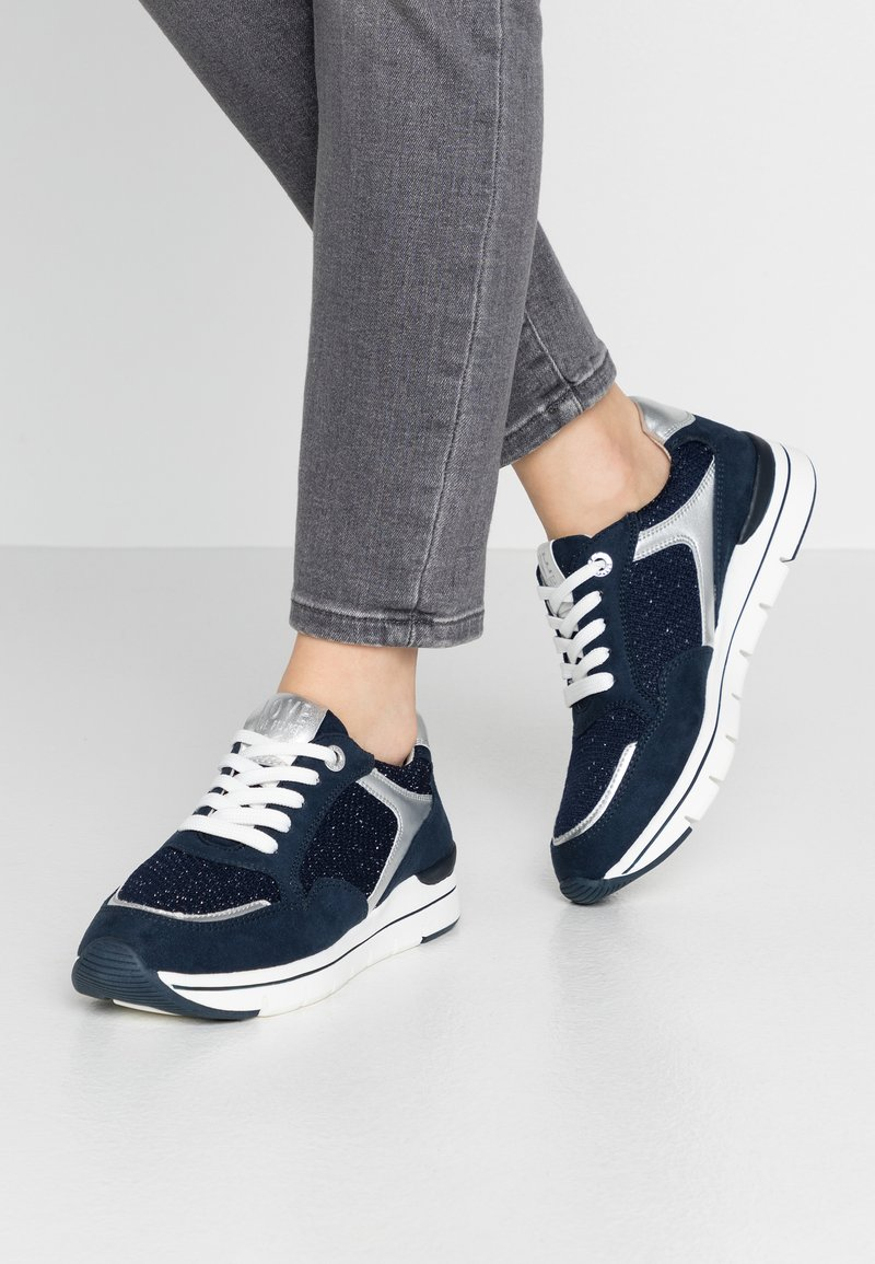 LOVE OUR PLANET by MARCO TOZZI - Trainers - navy