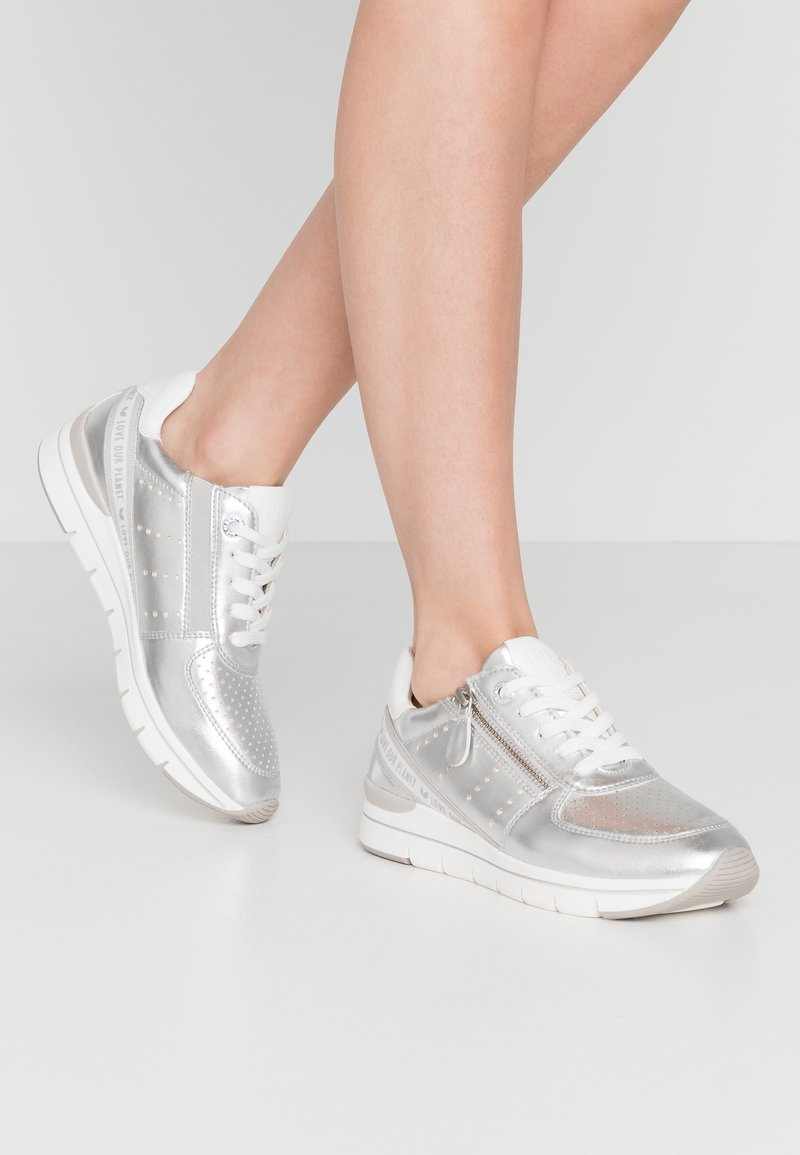 LOVE OUR PLANET by MARCO TOZZI - Trainers - silver
