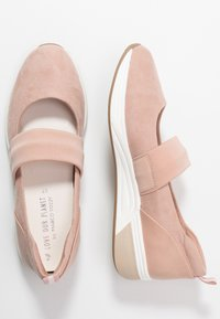 LOVE OUR PLANET by MARCO TOZZI - Ankle strap ballet pumps - rose - 3