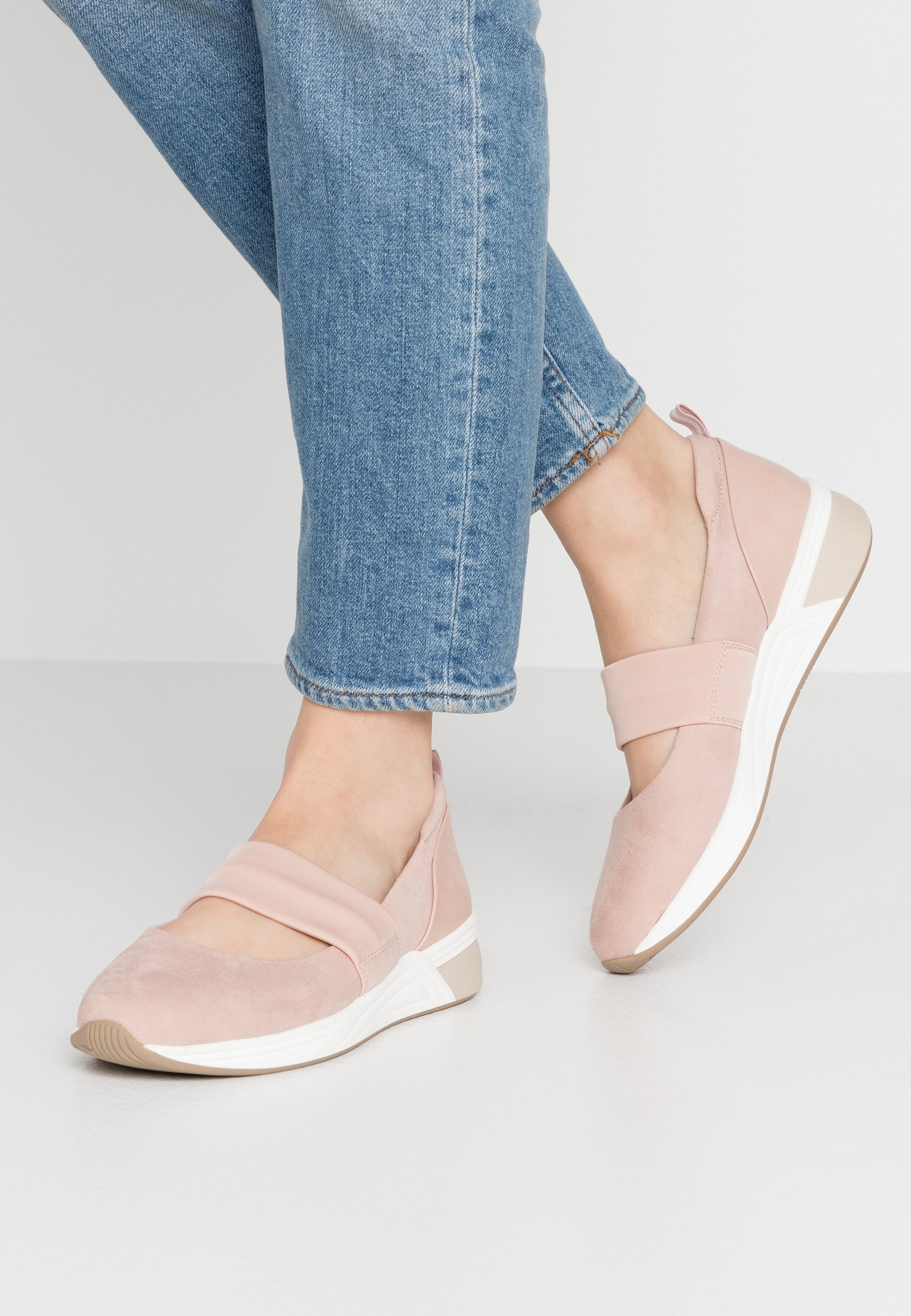 LOVE OUR PLANET by MARCO TOZZI Ankle strap ballet pumps - rose
