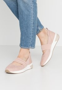 LOVE OUR PLANET by MARCO TOZZI - Ankle strap ballet pumps - rose - 0