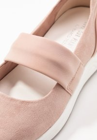 LOVE OUR PLANET by MARCO TOZZI - Ankle strap ballet pumps - rose
