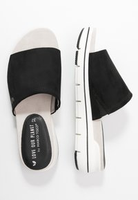 LOVE OUR PLANET by MARCO TOZZI - Mules - black - 3