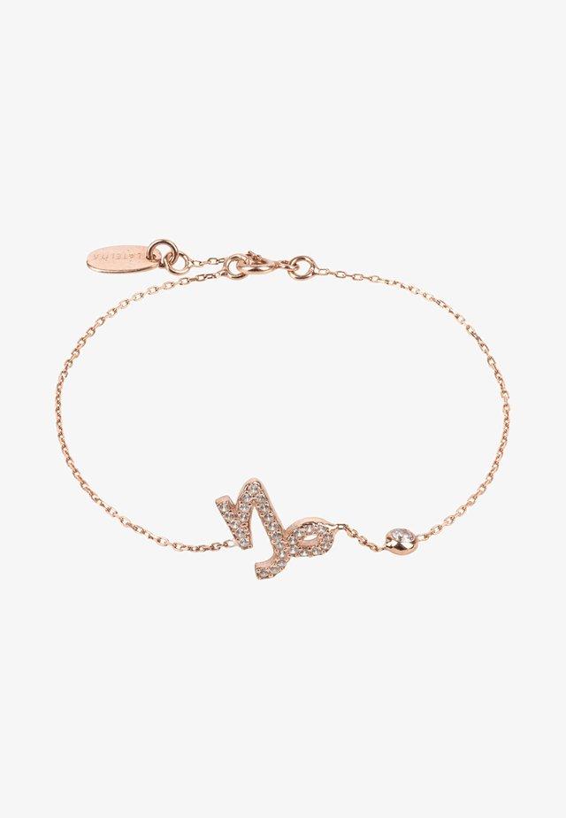 STEINBOCK STERNZEICHEN - Armband - roségold coloured