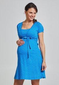 Love Milk Maternity - Jerseyklänning - blue - 0