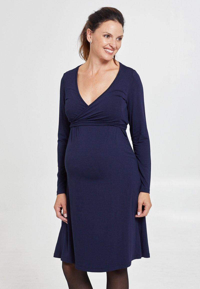 Love Milk Maternity - Jerseyklänning - blue