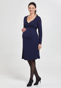 Love Milk Maternity - Jerseyklänning - blue - 1